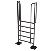 U-Design Rooftop Platforms - 6-Step 90 Degree Incline Ladder - URTL906