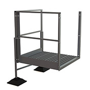"U-Design Rooftop Platforms - 20""H Turn Platform For 2-Step Ladders - URTTP20"