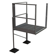 "U-Design Rooftop Platforms - 40""H Turn Platform For 4-Step Ladders - URTTP40"