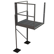 "U-Design Rooftop Platforms - 60""H Turn Platform For 6-Step Ladders - URTTP60"
