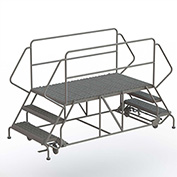 "3 Step Steel Double Entry Mobile Platform, 66""L x 36""W - WLDS133666"