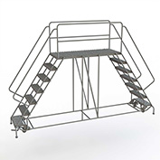 """4 Step Steel Double Entry Mobile Platform, 66""""L x 24""""W - WLDS142466"""