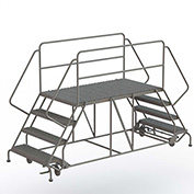 """4 Step Steel Double Entry Mobile Platform, 66""""L x 36""""W - WLDS143666"""