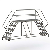 "5 Step Steel Double Entry Mobile Platform, 76""L x 24""W - WLDS152476"