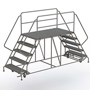 "5 Step Steel Double Entry Mobile Platform, 66""L x 36""W - WLDS153666"