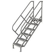 6 Step Industrial Access Stairway Ladder, Grip Strut - WLIS106242