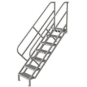 7 Step Industrial Access Stairway Ladder, Grip Strut - WLIS107242