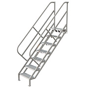 7 Step Industrial Access Stairway Ladder, Perforated - WLIS107246