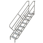 8 Step Industrial Access Stairway Ladder, Perforated - WLIS108246