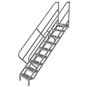 9 Step Industrial Access Stairway Ladder, Grip Strut - WISS109242
