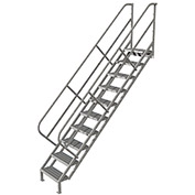 10 Step Industrial Access Stairway Ladder, Grip Strut - WLIS110242
