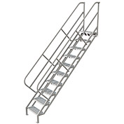 10 Step Industrial Access Stairway Ladder, Perforated - WISS110246