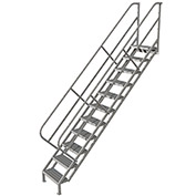 11 Step Industrial Access Stairway Ladder, Grip Strut - WLIS111242