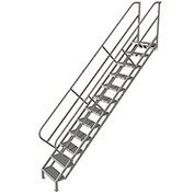 12 Step Industrial Access Stairway Ladder, Grip Strut - WLIS112242