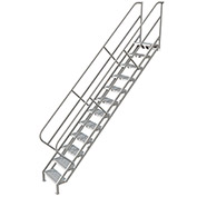 12 Step Industrial Access Stairway Ladder, Perforated - WLIS112246