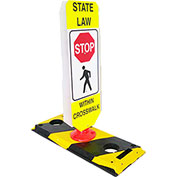 Flexible Post Crosswalk System, State Law - Stop