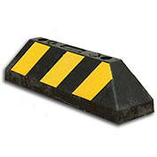"Bus/Truck Wheel Stop - 21""L x 6""H- Black/Yellow"