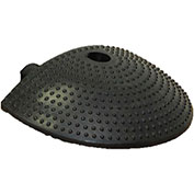 "0-5 MPH Speed Bump End - 12"" Wide - Black"