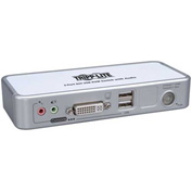 Tripp Lite 2 Port KVM Switch (DVI/USB), Desktop with Audio & Cables
