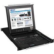"Tripp Lite 16-Port 1U Rack-Mount Console KVM Switch with 17"" LCD & IP Remote Access"