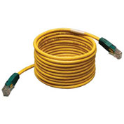 Tripp Lite 10ft Cat5e Cat5 Molded Cross-over Patch Cable RJ45 M/M Yellow