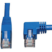 Tripp Lite 3ft Cat6 Molded Patch Cable Right Angle M to RJ45 M Blue 3'