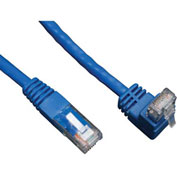 Tripp Lite 5ft Cat6 Molded Patch Cable Right Angle Up M to RJ45 M Blue 5'