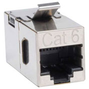 Tripp Lite Cat6 Straight Through Shielded In-line Snap-in Coupler RJ45 F/F
