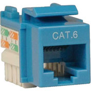Tripp Lite Cat6 Cat5e 110 Style Punch Down Keystone Jack RJ45 Blue