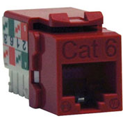Tripp Lite Cat6 Cat5e 110 Style Punch down Keystone Jack RJ45 Red TAA GSA