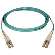 Tripp Lite 15M 10Gb Duplex Multimode 50/125 OM3 Fiber Cable LC/LC Aqua 50ft