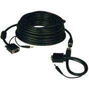 Tripp Lite 100ft SVGA VGA Monitor Easy Pull Cable Audio Coax HD15 M/M 100'
