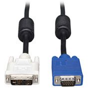Tripp Lite 3ft DVI to VGA Monitor Cable High Res Coax DVI-A M to HD15 M 3'
