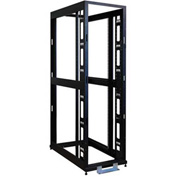 Tripp Lite 42U 4-Post Open Frame Rack Cabinet Square Hole Heavy Duty Caster