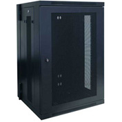 Tripp Lite 18U Wall Mount Rack Enclosure Cabinet Hinged w/ Door & Sides