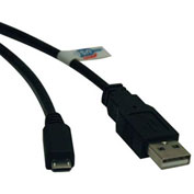 Tripp Lite 6ft USB 2.0 Hi-Speed Active Device Cable A to Micro-B M/M 6'