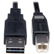 Tripp Lite 10ft Hi-Speed USB 2.0 Universal Reversible Device Cable M/M 10'