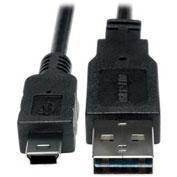 Tripp Lite 6 Inch USB 2.0 Universal Reversible Cable A to 5Pin Min-B M/M 6""
