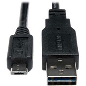 Tripp Lite 3ft USB 2.0 Hi-Speed Universal Reversible Cable M to Micro M 3'