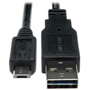 Tripp Lite 6 Inch USB 2.0 Universal Reversible Cable A to 5Pin Micro B M/M