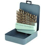 """32 Pc. Import HSS Black Oxide Silver & Deming 33/64-1"""" Drill Set"""