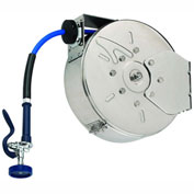 T&S Brass B-7122-C01 Enclosed Hose Reel, Stainless Steel W/ 30' Hose