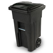 Toter Heavy Duty Two-Wheel Trash Cart, 32 Gallon, Blackstone - ANA32-10767