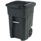 Toter Heavy Duty Two-Wheel Trash Cart, 48 Gallon Greenstone - ANA48-GNS