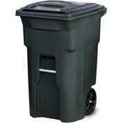 Toter Heavy Duty Two-Wheel Trash Cart, 64 Gallon Greenstone - ANA64-57359
