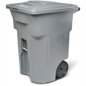 Toter Heavy Duty Two-Wheel Trash Cart, 96 Gallon, Dark Cool Grey - ANA96-00GRY