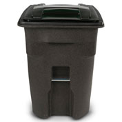 Toter Heavy Duty Two-Wheel Trash Cart, 96 Gallon, Brownstone - ANA96-58538