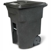 Toter Heavy Duty Two-Wheel Trash Cart, 96 Gallon Black - ANA96-00BKS
