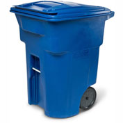 Toter Heavy Duty Two-Wheel Trash Cart, 96 Gallon Blue - ANA96-00BLU