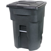 Toter Heavy Duty Two-Wheel Trash Cart, 96 Gallon Greenstone - ANA96-GNS